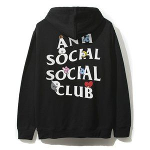 Auth Anti Social Social Club x Undefeated ASSC Camo Black Hoodie sz M IN HAND